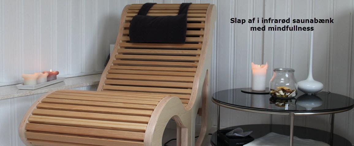 Slap i infrarød sauna bænk med mindfullness